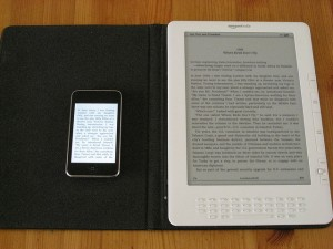 An iPod Touch and a Kindle